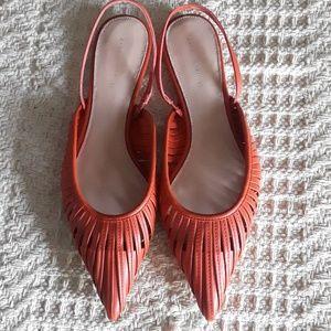 NWOT Zara Flat Strappy Mules Size 40